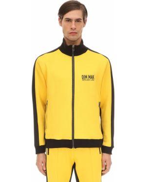 Prążkowana żółta kurtka Dim Mak Collection