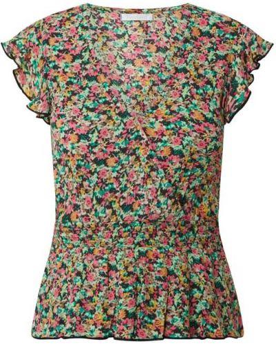 Różowa bluzka krótki rękaw z wiskozy Freebird