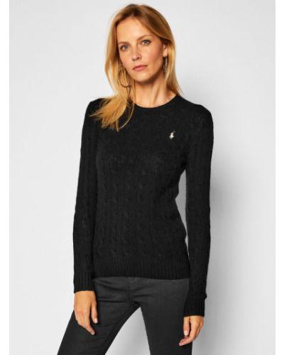 Czarny kaszmir sweter Polo Ralph Lauren
