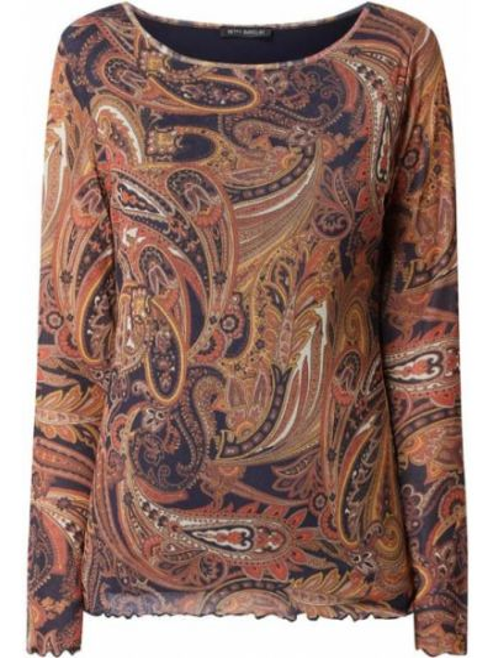 Niebieska bluzka z falbanami Betty Barclay