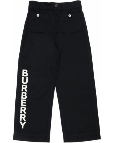 Bawełna czarny jeansy z kieszeniami z łatami Burberry