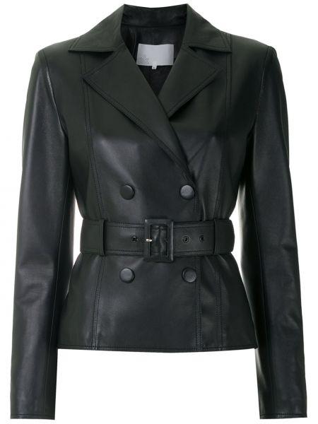 Черная кожаная куртка Nk