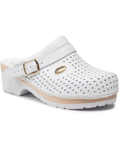 Białe sandały casual Scholl