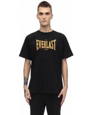 Czarny t-shirt bawełniany Everlast T.e.n.