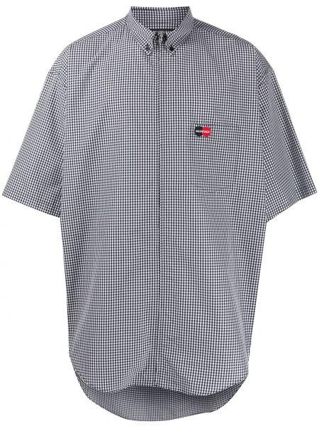 Koszula krótkie z krótkim rękawem z logo długa Balenciaga