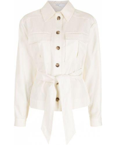 Хлопковая белая куртка с воротником Nk