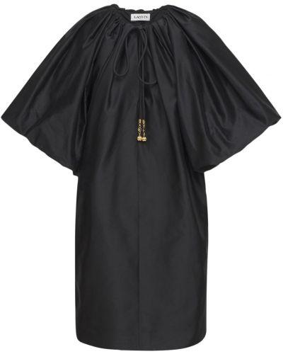 Шелковое платье мини - черное Lanvin