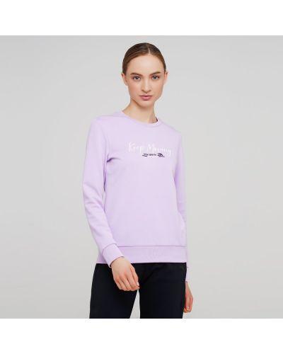 Фиолетовый прямой свитшот Anta