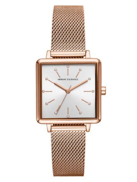 Часы водонепроницаемые золотые Armani Exchange