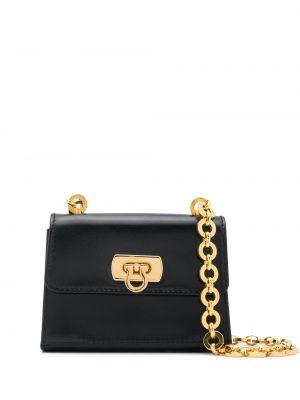 Черная маленькая сумка металлическая позолоченная Salvatore Ferragamo Pre-owned