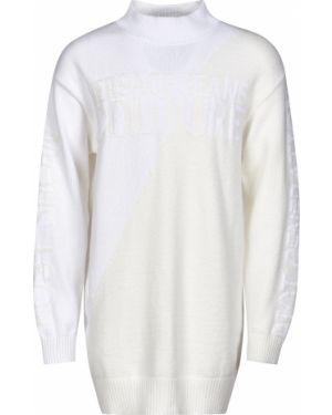 Хлопковое платье - белое Versace Jeans