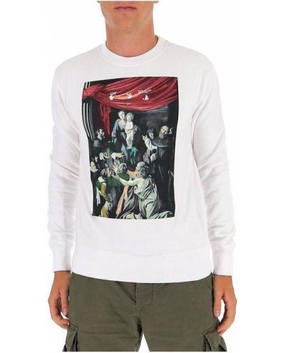 Biała bluza z printem Off-white