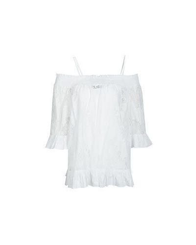 Блузка с открытыми плечами белая Twinset