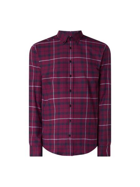 Fioletowa koszula bawełniana z długimi rękawami Seidensticker