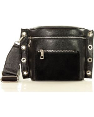 Skórzana torebka czarna sport Mazzini