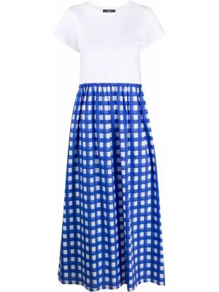 Синее футбольное платье мини с воротником с вырезом Weekend Max Mara