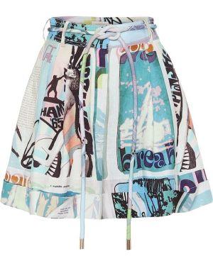 Короткие шорты льняные юбка Zimmermann