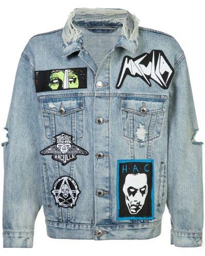 Джинсовая куртка хлопковая голубая Haculla