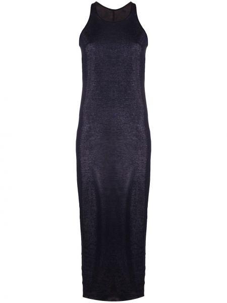 Bawełna niebieski bawełna sukienka midi bez rękawów Rick Owens