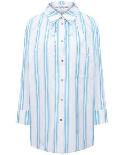 Хлопковая рубашка - синяя Rejina Pyo