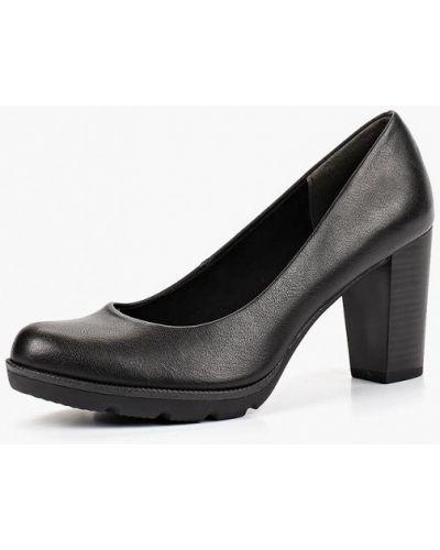 Кожаные туфли на каблуке осенние Marco Tozzi