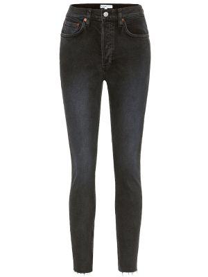 Джинсовые зауженные джинсы - черный Re/done