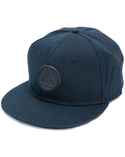 Синяя хлопковая кепка с прямым козырьком Mcq Alexander Mcqueen