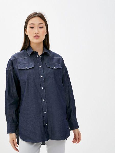 Джинсовая рубашка синяя Naumi