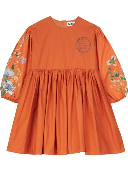 Платье макси длинное - оранжевое Molo