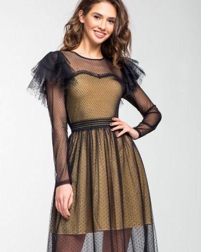 Вечернее платье осеннее золотой Itelle
