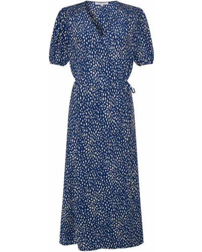 Синее платье миди с запахом с короткими рукавами Gerard Darel