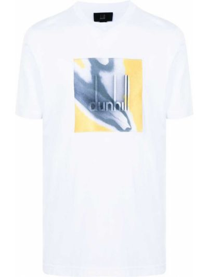Biała t-shirt krótki rękaw Dunhill