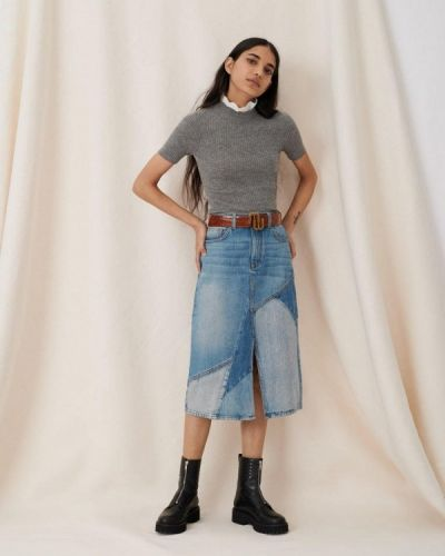 Синяя джинсовая юбка Maje