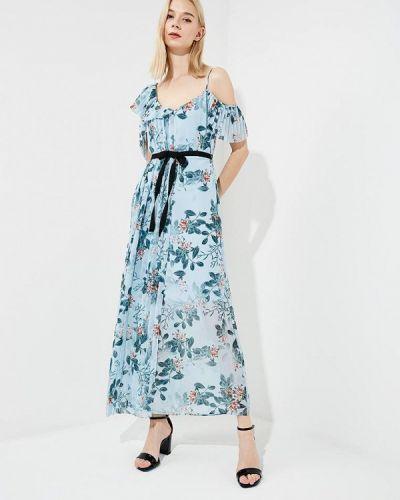 Платье с открытыми плечами весеннее French Connection
