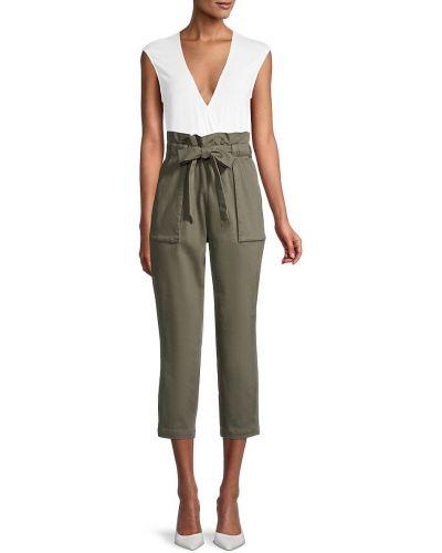 Хлопковые зеленые брюки с карманами Bcbgeneration