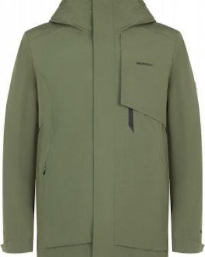 Оранжевая зауженная утепленная куртка на молнии с карманами Merrell