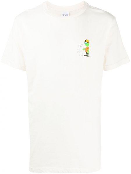 Bawełna prosto biały koszula z krótkim rękawem krótkie rękawy Ripndip