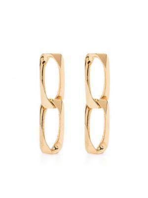 Золотистые золотые серьги золотые оверсайз Emanuele Bicocchi