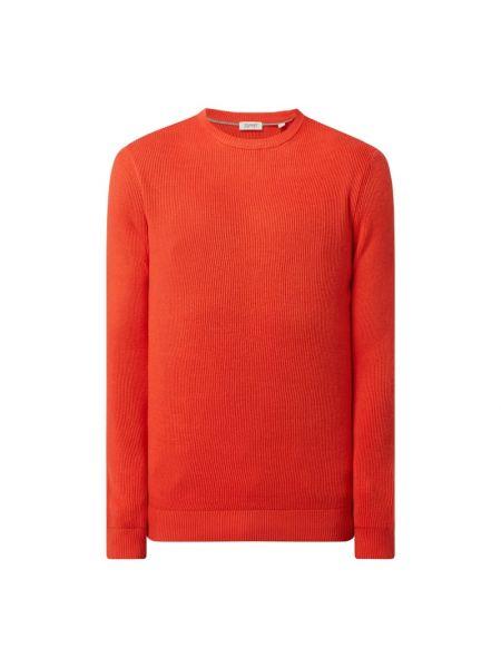 Prążkowany pomarańczowy z kaszmiru sweter Esprit