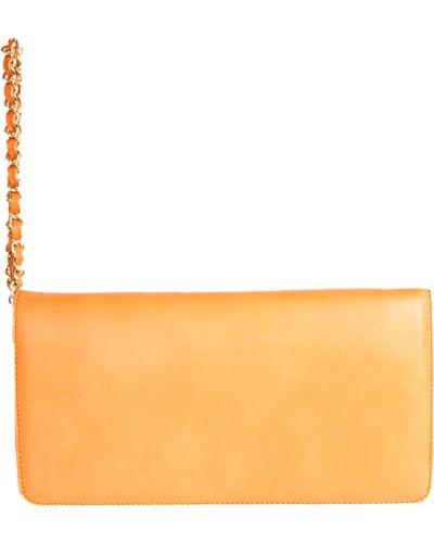 Клатч итальянский оранжевый Guess By Marciano