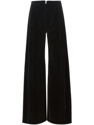 Черные расклешенные брюки винтажные Emanuel Ungaro Pre-owned