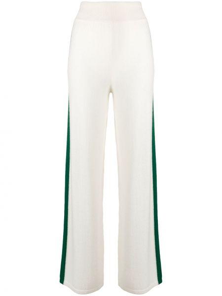 Шерстяные расклешенные спортивные брюки с нашивками айвори Cashmere In Love