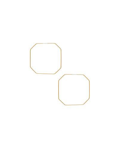 Серьги-кольца золотые позолоченные Ettika