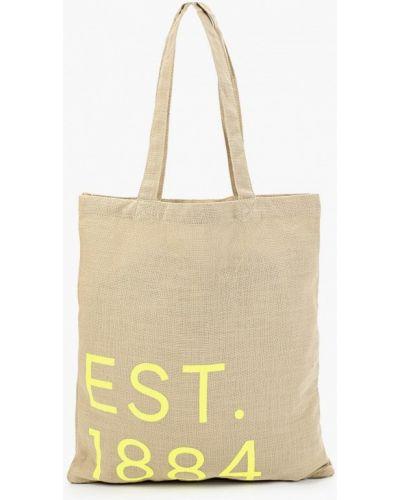 Бежевая сумка шоппер с камнями Marks & Spencer