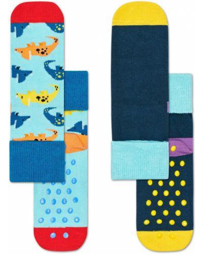Колготы синие Happy Socks