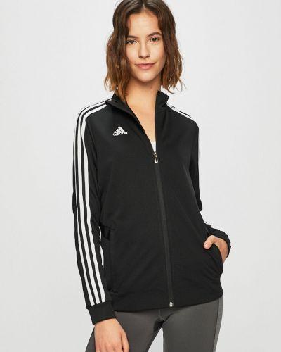 Кофта с карманами черная Adidas Performance