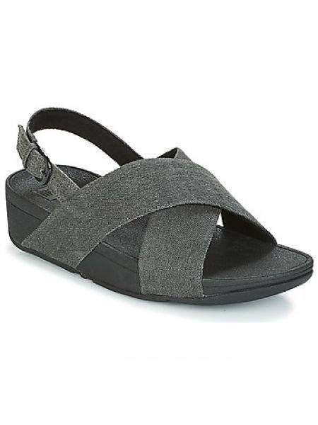 Czarne sandały Fitflop