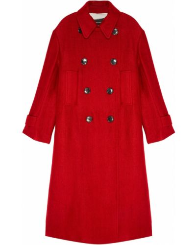 Двубортное пальто трапеция Isabel Marant