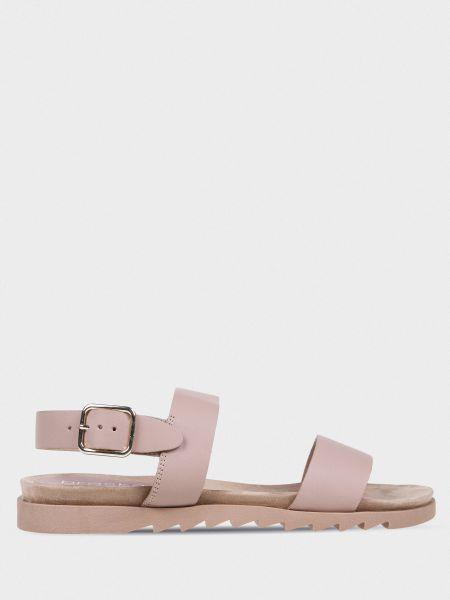 Кожаные сандалии - бежевые Braska