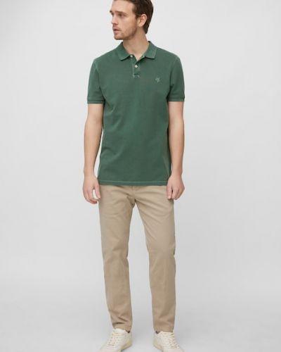 Zielona koszulka z haftem Marc O Polo